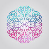 Vector Watercolor Snowflake Royalty Free Stock Photography