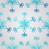 Vector Watercolor Snowflake Royalty Free Stock Images