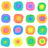 Vector Watercolor Spectrum Dots Seamless Pattern Royalty Free Stock Images
