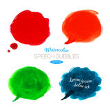 Vector Watercolor speech bubbles Royalty Free Stock Image