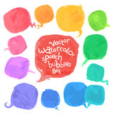 Vector Watercolor Speech Bubbles Set Stock Photos