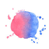 Vector watercolor splash on white background Stock Photos