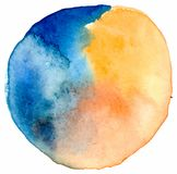 Vector watercolor spot. Watercolor colorful  background. Hand drawing illustration for design Stock Image