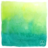 Vector watercolor square Royalty Free Stock Images