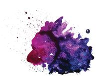 Vector watercolor stain  on white Stock Photography