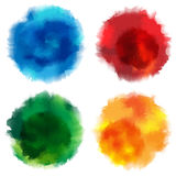 Vector Watercolor Stains Royalty Free Stock Photos