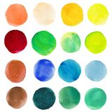 Vector watercolor stains. Circles on the paper Royalty Free Stock Photo
