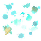 Vector watercolor stains for design Stock Photography