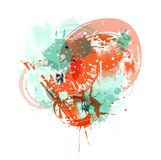 Vector watercolor stains royalty free illustration