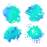 Vector Watercolor Stains Set royalty free illustration