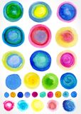 Vector watercolor stains for your design. Stock Image
