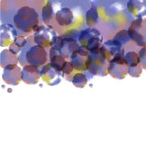 Vector watercolor stainsColorful vector isolated Royalty Free Stock Photo