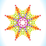 Vector watercolor star with colorful rainbow blobs. Royalty Free Stock Images