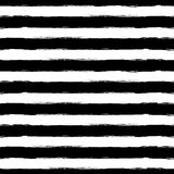 Vector Watercolor Stripe Grunge Seamless Pattern. Abstract Black Stock Image