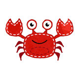 Vector Watercolor Style Crab Royalty Free Stock Photography