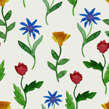 Vector Watercolor Summer Seamless Pattern Royalty Free Stock Image