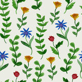 Vector Watercolor Summer Seamless Pattern Royalty Free Stock Images