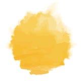 Vector watercolor sun, isolated on white background. Illustration. stock illustration