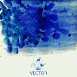 Vector watercolor texture. Grunge paper template. Wet paper. Ban Royalty Free Stock Photography
