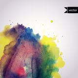Vector watercolor texture. Grunge paper template. Wet paper. Ban Royalty Free Stock Photo