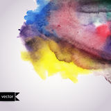 Vector watercolor texture. Grunge paper template. Wet paper. Ban Royalty Free Stock Photos