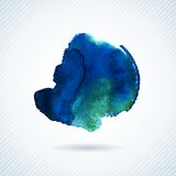 Vector watercolor texture. Grunge paper template. Wet paper. Blobs, stain, paints blot. Looks like ocean water or sky, maritime theme. Backdrop for scrapbook Stock Images
