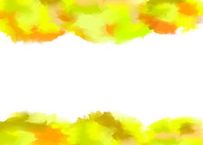 Vector watercolor yellow background Stock Photos