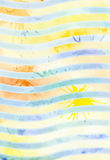 Vector watercolor yellow and blue background Royalty Free Stock Images
