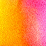 Vector watercolor yellow, orange and pink background Royalty Free Stock Images