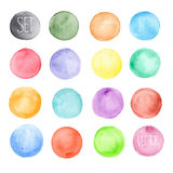 Vector watercolors pattern. Round shapes pattern. Stock Image