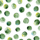 Vector watercolors pattern. Round shapes pattern.  Stock Images