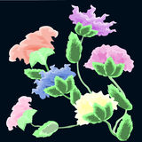 Vector Watercolour Flowers. Royalty Free Stock Photo
