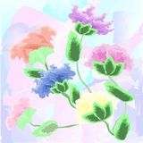 Vector Watercolour Flowers. Royalty Free Stock Photography