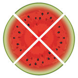 vector watermelon slices Royalty Free Stock Photography