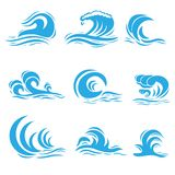 Vector Wave. Vector illustration of set of different style wave Stock Photo