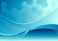 Vector Wave Background. In blue Royalty Free Stock Images