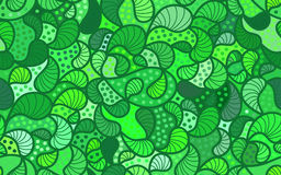 Vector wave background of doodle drawn lines. Abstract vector wave green background of doodle drawn lines Royalty Free Stock Photo