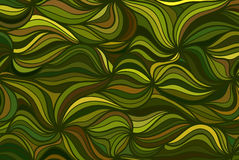 Vector wave background of doodle drawn lines. Abstract vector wave background of doodle drawn lines. Green pattern Royalty Free Stock Photos