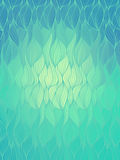 Vector wave background of doodle hand  drawn lines. Abstract vector wave blue background of doodle hand drawn lines. Colorful floral pattern Royalty Free Stock Image