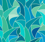 Vector wave background of doodle hand drawn lines. Abstract vector color background of doodle hand drawn lines. Colorful floral pattern. Wave blue wallpaper Stock Photos