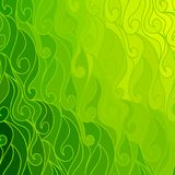 Vector wave background of doodle hand drawn lines Stock Images