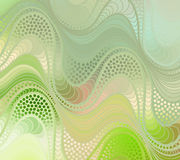 Vector wave background of doodle hand drawn lines. Abstract vector color background of doodle hand drawn lines. Colorful floral pattern. Wave green wallpaper Royalty Free Stock Image