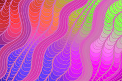 Vector wave background of doodle hand drawn lines Royalty Free Stock Image