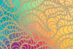 Vector wave background of doodle hand drawn lines Royalty Free Stock Photos