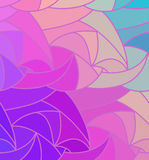 Vector wave background of doodle hand drawn lines Stock Photo
