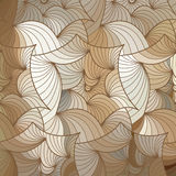 Vector wave background of doodle hand drawn lines Stock Image