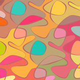 Vector wave background of doodle hand drawn lines Royalty Free Stock Images
