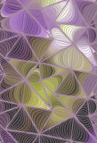 Vector wave background of doodle hand drawn lines Royalty Free Stock Photo