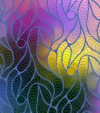 Vector wave background of doodle hand drawn lines Royalty Free Stock Photography