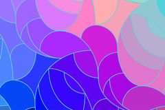 Vector wave background of doodle hand drawn lines. Abstract vector color background of doodle hand drawn lines. Colorful floral pattern. Wave blue wallpaper Stock Photo